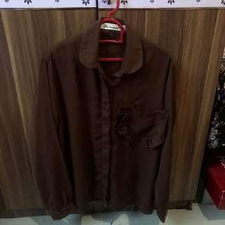 Lunart Dark Brown Long Sleeve Cloud Shirt