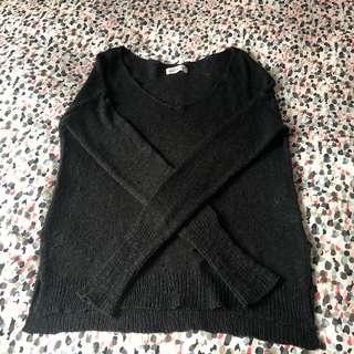 Hollister black v-neck sweater
