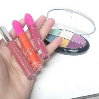 Eyeshadow dan lipgloss