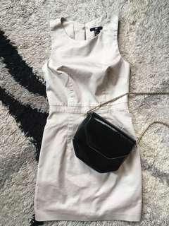 H&M off-white petite dress.