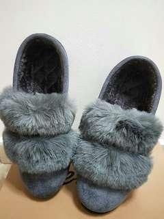Winter fur shoes