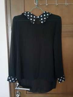 baju wanita: top black circle