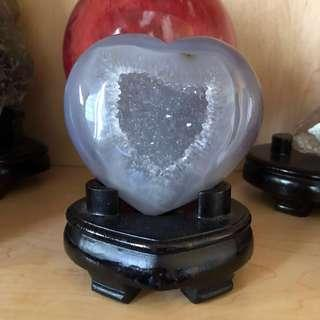 Heart-shaped Agate Crystal
