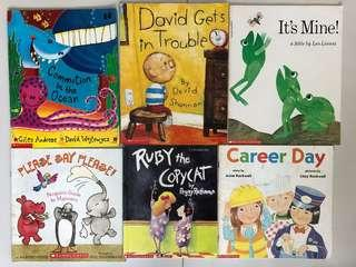 Assorted books by Scholastic for kindies