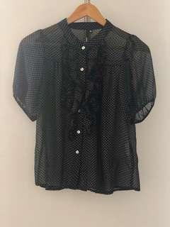 Dotted blouse size 6