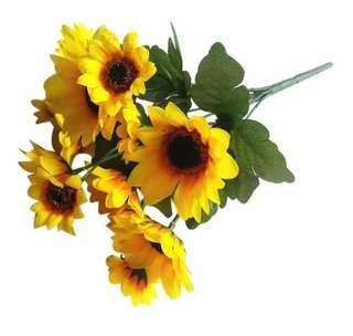 🚚 30cm Artificial Silk Sunflowers Wedding Decorations (14 heads)