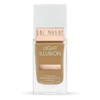 New FLOWER Beauty Light Illusion Foundation - Sable