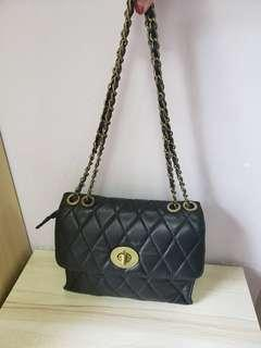 羊皮手袋 leather chain bag