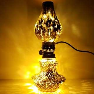 Vintage x Cyber Oil Lamp in Gold Color with USB LED lights / 復古 x 潮金色油燈連USB led燈