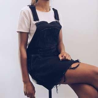Lee Riders Distressed Dungaree Dress