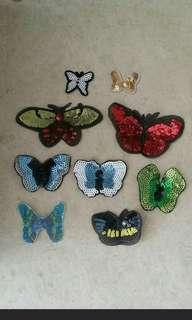 🚚 Sew on sequins patch - Butterfly