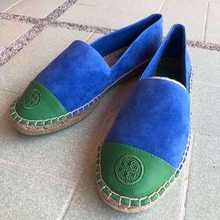 TORY BURCH - Color Block Suede Espadrille - US 6.5