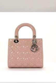 Lady Dior patent leather pale pink