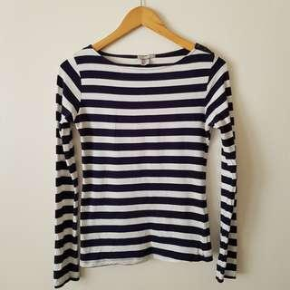 H&M stripes long sleeves top