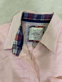 🚚 「3件500」Lativ 限量款牛津粉襯衫 台灣製造