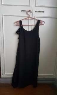 Promod black chiffon shift dress