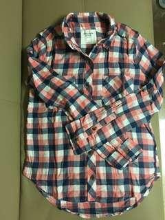 A&F Abercrombie & Fitch shirt 格仔恤衫 全新