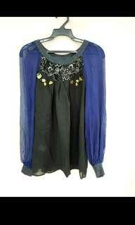 温慶珠 蠶絲縫珠上衣