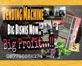 Belajar Bisnis Vending Machine Keuntungan 70% ( Real 10Jt Perbulan  ).