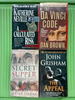 Mystery-Thriller Books: The Appeal, The Secret Supper, The Da Vinci Code and A Calculated Risk (Sold as Bundle)