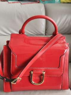 Nine West leather bag  紅色