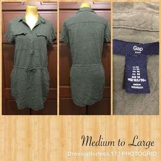 Gap Button-up dress with side pocket