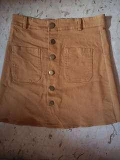 🚚 BN Mustard Button Up Skirt