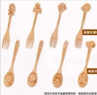 鴻福堂snoopy木製餐具系列(全套)