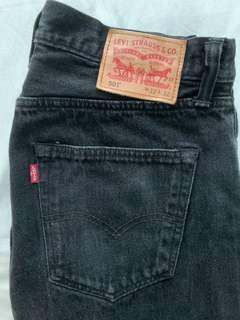 Levi's  501 黑色牛仔褲