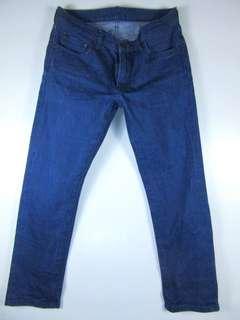 Uniqlo slim fit dark wash jeans