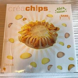 Crea chips Happy Nibbles Microwave Chip Maker Gadget Craft Set Microwave DIY Potato Crisp Chips Slicer Maker