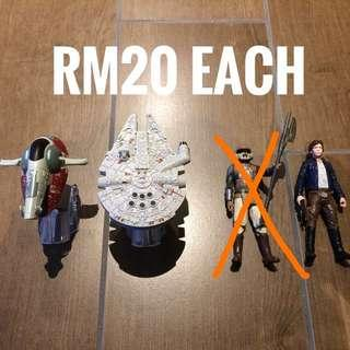Star Wars 3.75 figures and vehicles