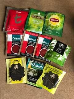 Tea bag selection imported