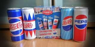 Collectible Pepsi Cola Limited Edition Retro Cans