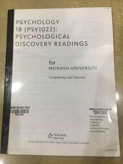 Monash Psychology 1B (PSY1022) Psychological Discovery Readings