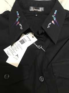 華山文創品牌Humming studio 手工刺繡襯衫 S