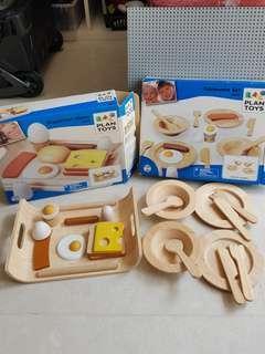 🚚 Plantoys Tableware Set, Breakfast Menu Set