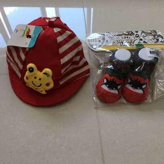 🚚 Baby Boy Cap and Shoes Set