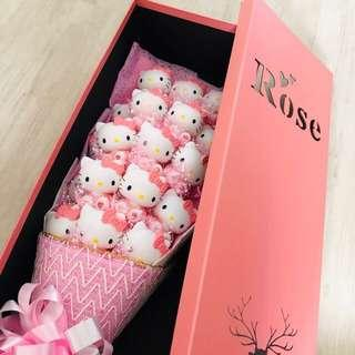 (READY STOCKS) valentines day hello kitty toy bouquet