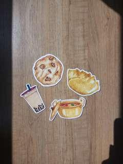 Watercolor Food Stickers