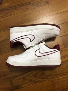 Nike Air Force 1 07 LTHR white/red UK 7