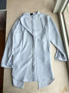 Topshop Light Blue Jacket 淺藍色長身薄外套