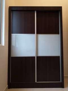 Wardrobe + 4 Compartment Storage + Coffee Table