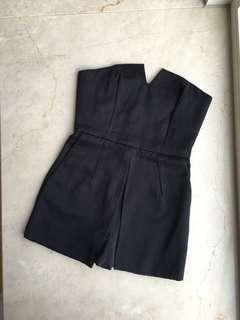 Topshop Tube Mini Playsuit (Black) 連身裙褲 (黑色) Clubbing Party Cocktail 小禮服