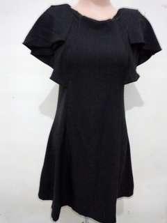 Dress hitam kelelawar fit to M