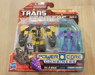 Transformers Power Core Combiners PCC Sledge with Throttler MISB