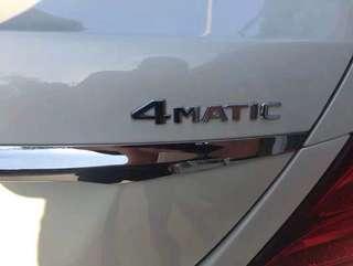 🚚 賓士 四驅 貼標 4matic 貼標 尾標 後車廂 c300 cla gla glc e200