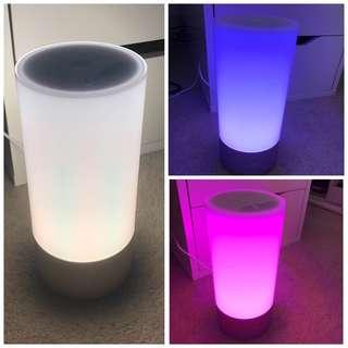 COLOUR CHANGING LED CYLINDER BEDSIDE LAMP