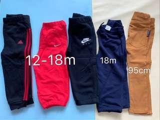 12-18m Nike Adidas Polo 及購自日本褲