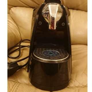 Nespresso glass & saucer and compatible coffee machine
